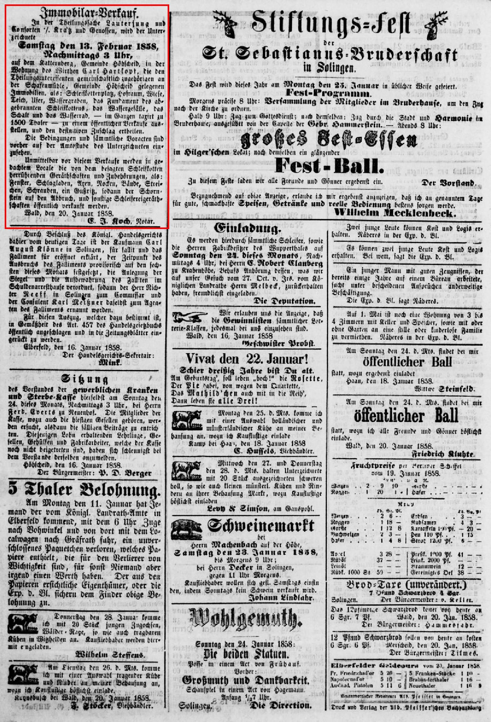Anzeige_1858-01-22_Bergisches-Volksblatt_Seite-4-oben
