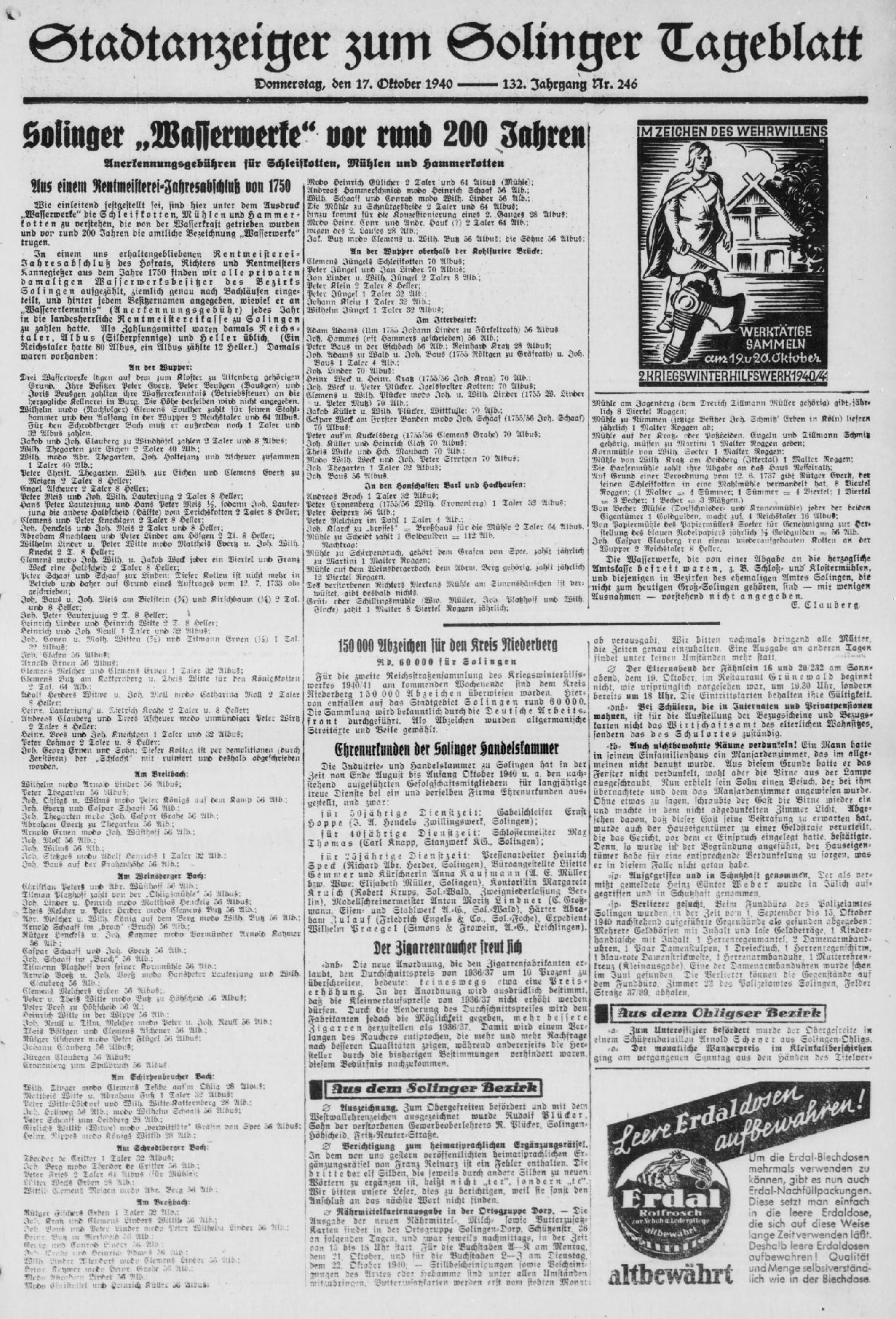 Artikel_1940-10-17_Solinger-Tageblatt_Seite-3